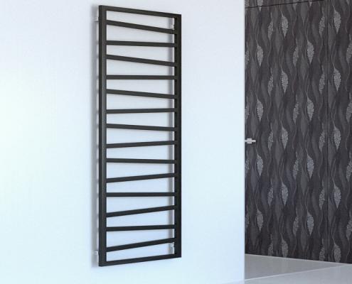 Scaldasalviette di Design Verticale con Attacco Centrale - Argento - 1780mm x 500mm x 30mm - 794 Watt - Torun