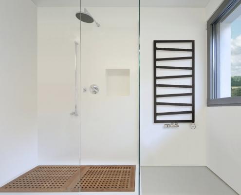Scaldasalviette di Design Verticale con Attacco Centrale - Argento - 1070mm x 500mm x 30mm - 514 Watt - Torun