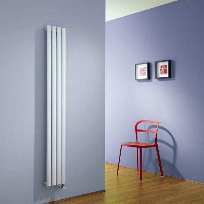 Radiatore di Design Elettrico Verticale - Bianco - 1600mm x 236mm x 56mm - Elemento Termostatico 600W - Revive