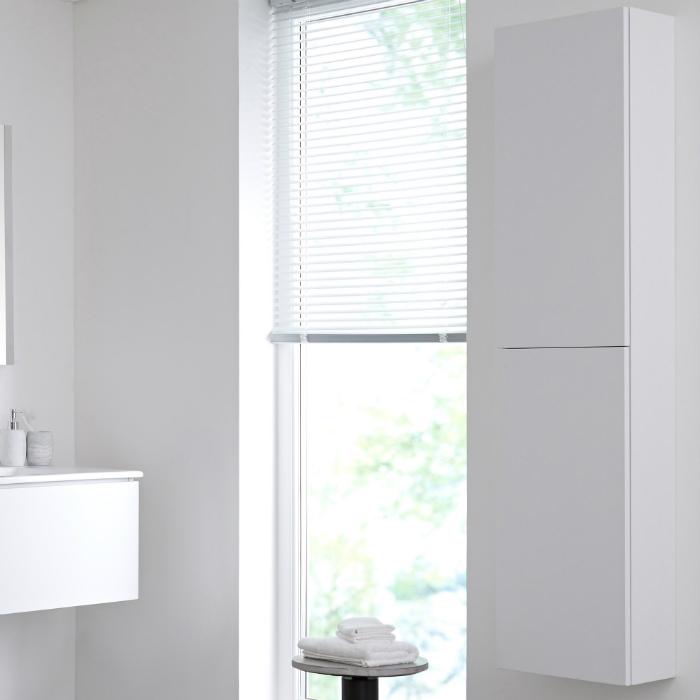 Colonna Bagno Murale 350x1500mm Colore Bianco Opaco - Newington