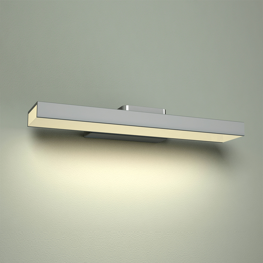 Image of Applique LED IP44 Alluminio con Finitura Cromata per Specchiera - Parade