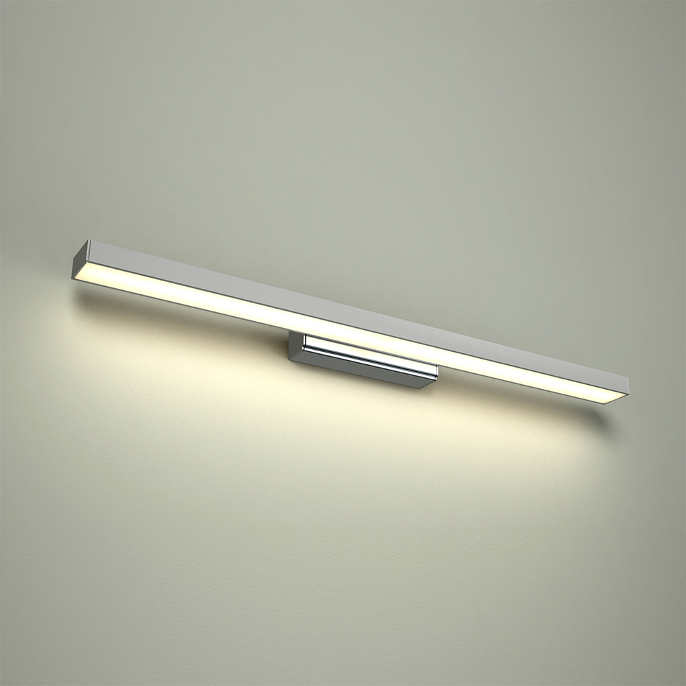 Image of Applique LED Quadrata IP44 Pensile Bagno Design Sospeso in Alluminio Cromato - Parade