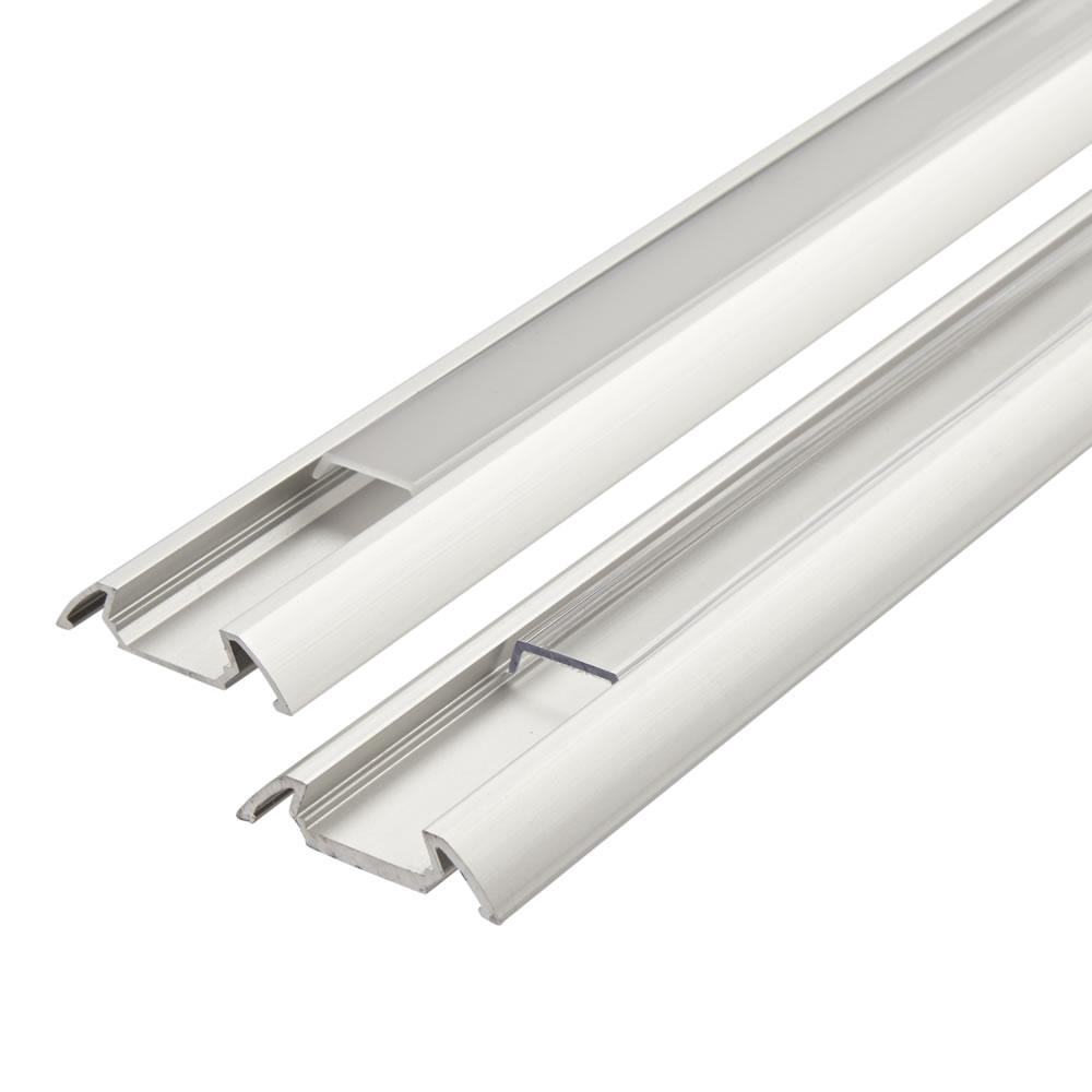 Image of Biard Copertura Alluminio Colore Bianco per Illuminazione LED 100cm