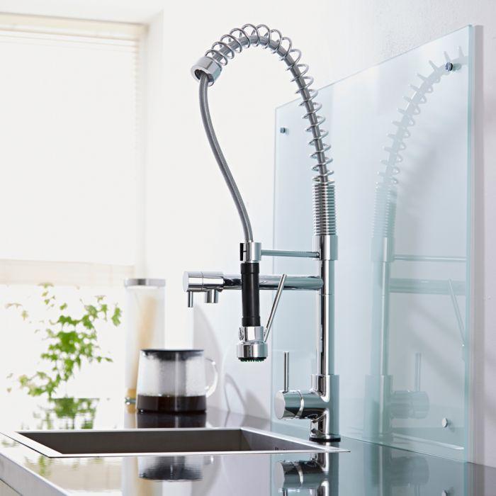 Rubinetto miscelatore monocomando per lavello della cucina con doccia